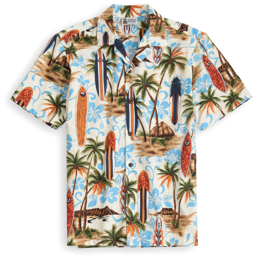 HSS101-Aloha-Republic Hawaiian Shirt