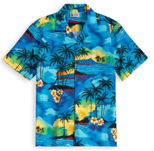HSS105-Islands-in-the-Sun 100% cotton, 100% genuine Hawaiian Shirt