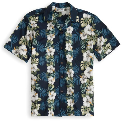HSS108-The-Hawaiianese 100% cotton, 100% genuine Hawaiian Shirt