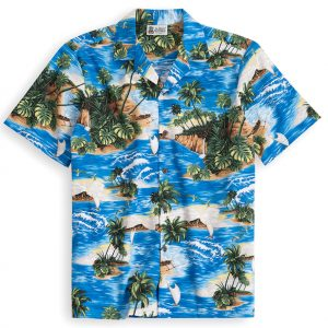 HSS137-North-Shore 100% cotton, 100% genuine Hawaiian Shirt
