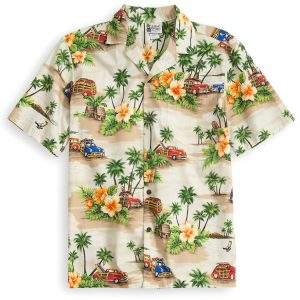 HSS139-Classic-Woody 100% cotton, 100% genuine Hawaiian Shirt