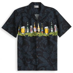 HSS142-Beer-4-Life 100% cotton, 100% genuine Hawaiian Shirt