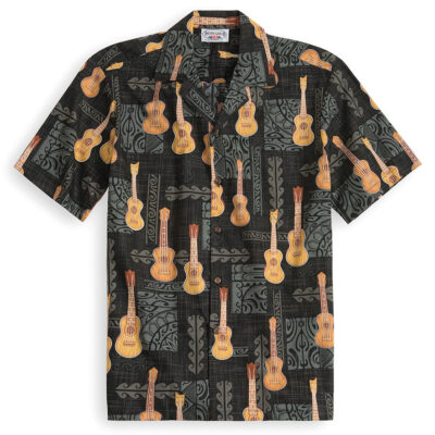 PLS206-Ukulele-Solo 100% cotton, 100% genuine Hawaiian Shirt