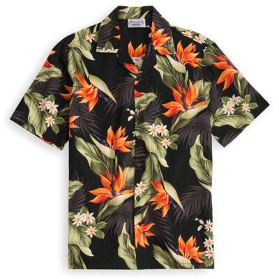 Molokai Black Hawaiian Shirts at The Hawaiian Shirt Shop, UK