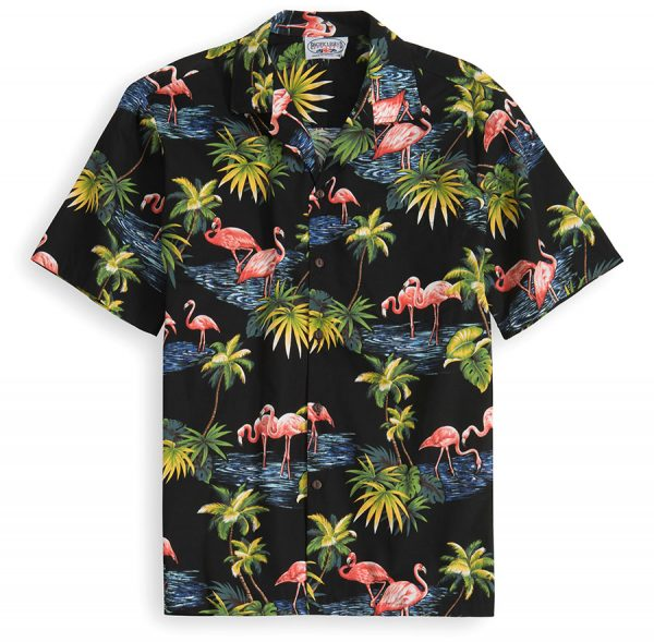 PLS212-Pink-Flamingo 100% cotton, 100% genuine Hawaiian Shirt