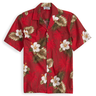 Red Palms Hawaiian Shirts at The Hawaiian Shirt Shop, UK