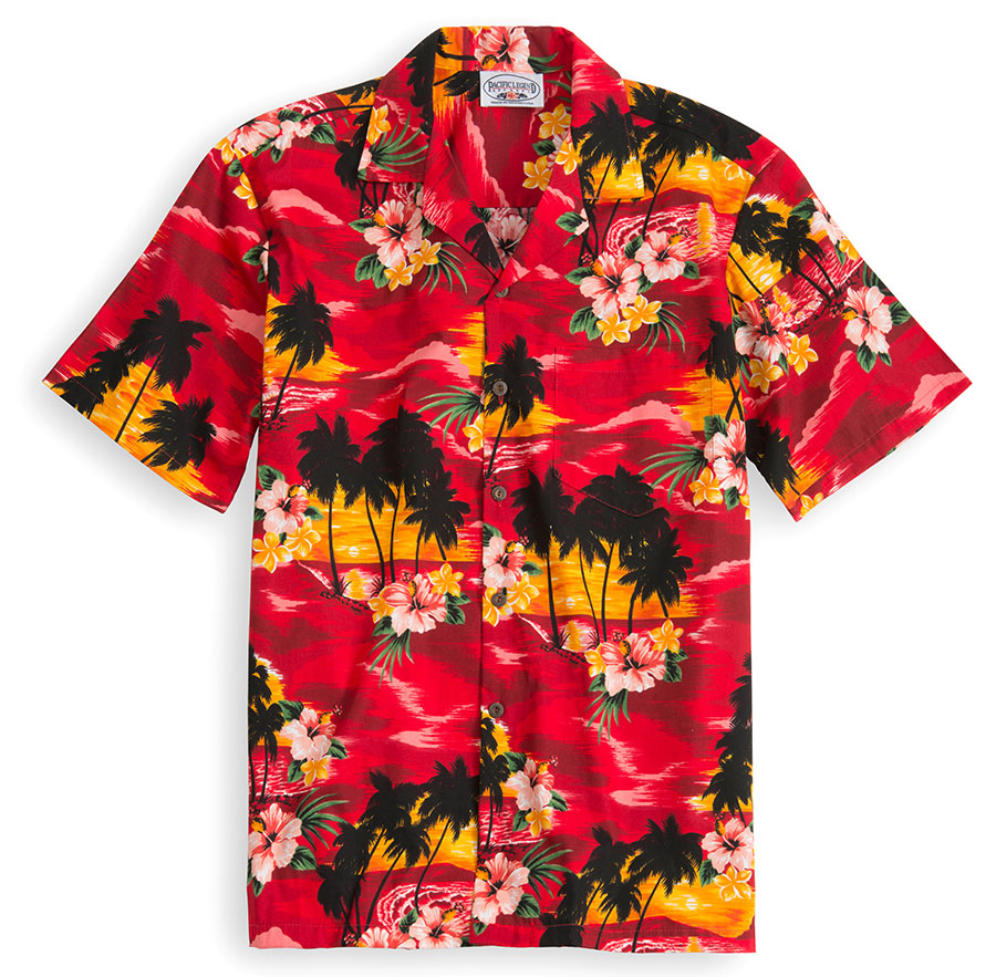Maui Red Hawaiian Shirt at The Hawaiian Shirt Shop, UK