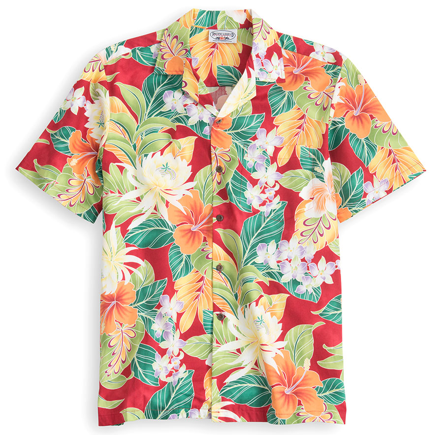 Happy HibiscusHawaiian Shirt at The Hawaiian Shirt Shop, UK
