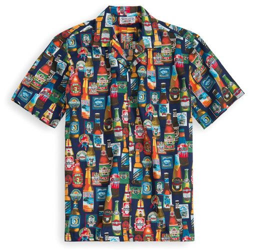 PLS230-Beer-Galore 100% cotton, 100% genuine Hawaiian Shirt