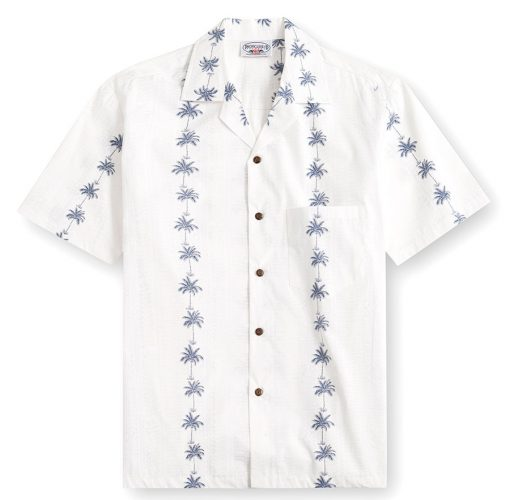 Palm Bay white Hawaiian Shirts at The Hawaiian Shirt Shop, UK