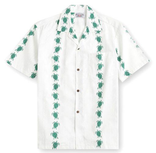 PLS234-Turtle-Parade 100% cotton, 100% genuine Hawaiian Shirt