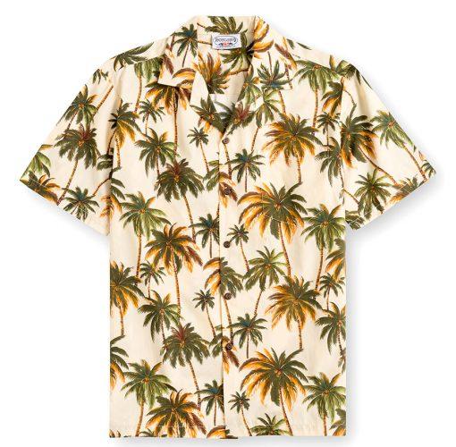 PLS235-Palm-Trees 100% cotton, 100% genuine Hawaiian Shirt