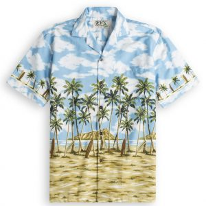 Long Board Bay Mens Hawiian Shirt 100% cotton