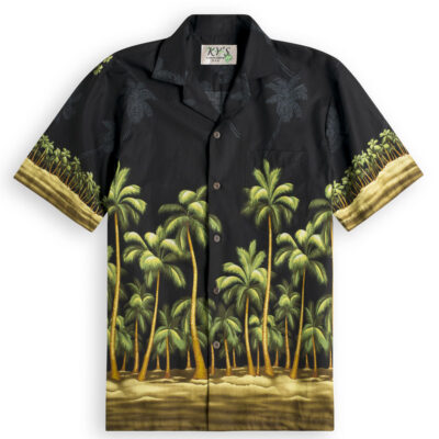 Imperial Palms Mens Hawiian Shirts 100% cotton
