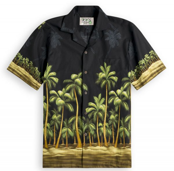 Imperial Palms Mens Hawiian Shirt 100% cotton