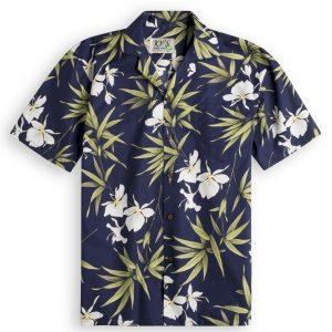 Kahili Mens Hawiian Shirt 100% cotton