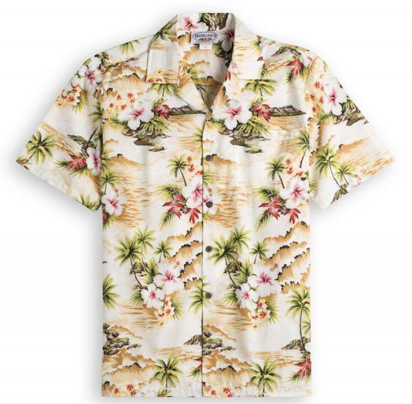 Palm Beach Mens Hawiian Shirt 100% cotton