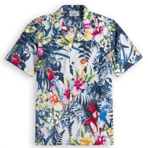 Palm Garden Mens Hawiian Shirt 100% cotton