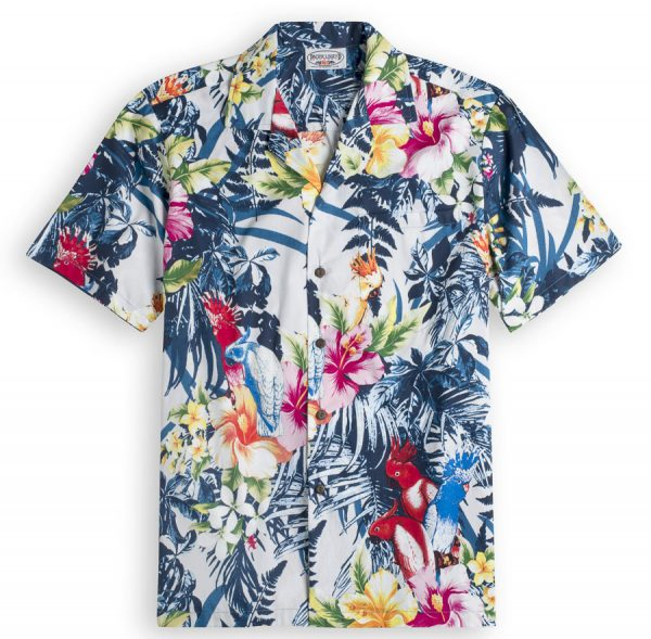 Palm Garden Mens Hawiian Shirt 100% cotton