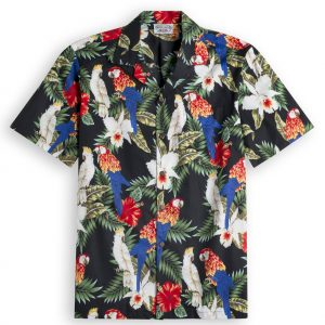 Cockatootoo Mens Hawiian Shirt 100% cotton