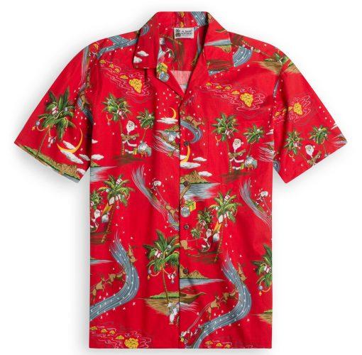 North Shore Santa Hawaiian Shirts at The Hawaiian Shirt Shop, UK