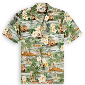 Woody Beach Mens Hawaiian Shirt