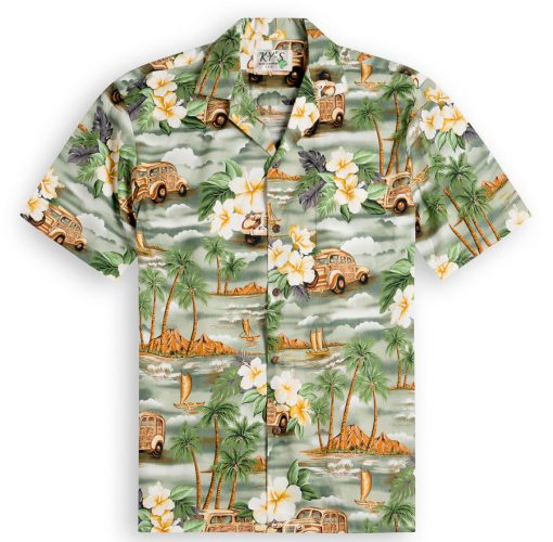 Woody Beach Mens Hawaiian Shirts