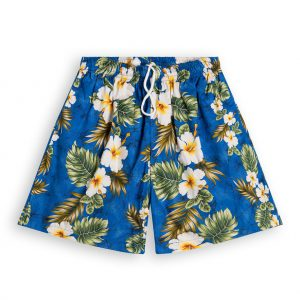 Hibiscus Palms Hawaiian Shorts for Men
