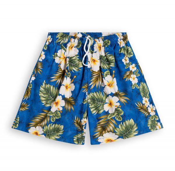 Hibiscus Palms Hawaiian Shorts for Men