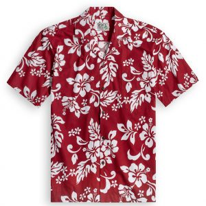 Red Hibiscus Hawaiian Shirt at The Hawaiian Shirt Shop, UK