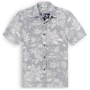 TPS501 Love Shack Blue Reverse Print Hawaiian Shirts