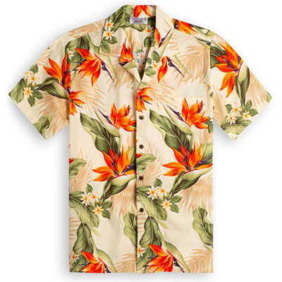 Molokai Cream Hawaiian Shirts at The Hawaiian Shirt Shop, UK