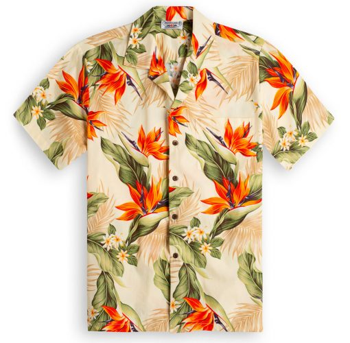 Molokai Cream Hawaiian Shirts at The Hawaiian Shirt Shop, UK