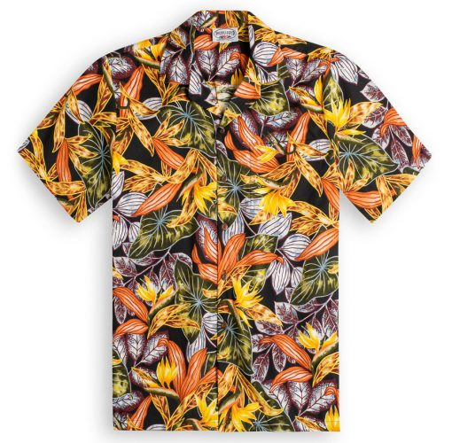 Akuma Ka (Autumn) Cream Hawaiian Shirts at The Hawaiian Shirt Shop, UK