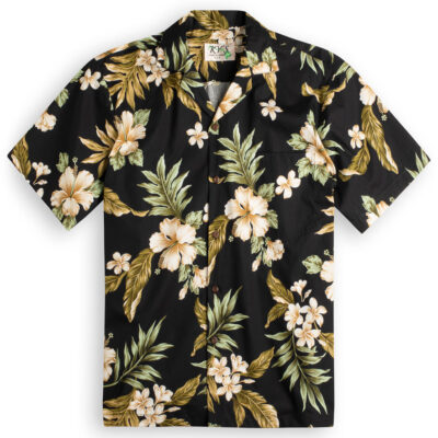 5f6b892c £44.99 · Hibiscus Garden (black) Hawaiian Shirts at The Hawaiian Shirt Shop,  UK
