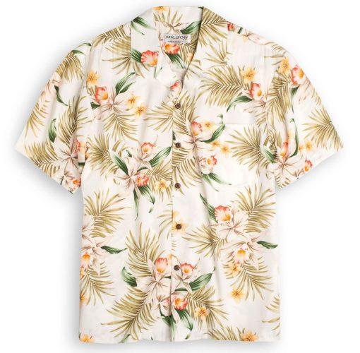 Orchid Garden (white) Hawaiian Shirts at The Hawaiian Shirt Shop, UK