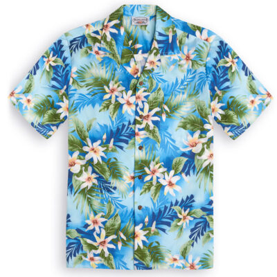 PLS254 Onomea Bay blue Hawaiian Shirt