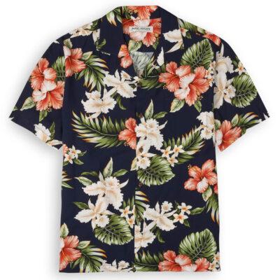 KYS506 Nani Mala Navy Blue Hawaiian Shirts
