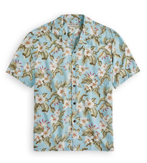 KYS508 Aloha Hibiscus Sky Blue