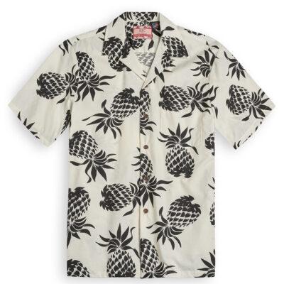 Hala Kahiki white Hawaiian Shirts at The Hawaiian Shirt Shop, UK