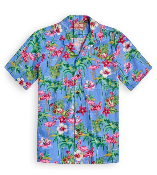 RJC602 Flamingo Royale Blue from the Hawaiian Shirt Shop UK