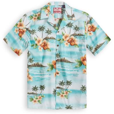 RJC615 Hibiscus Breezes Hawaiian Shirt