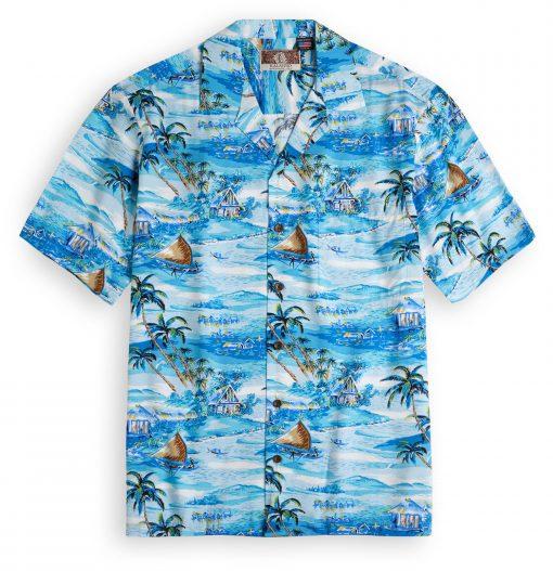 RJC709 Manele Harbour Hawaiian Shirt