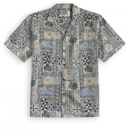 KYS335 South Seas Tapa Hawaiian Shirt