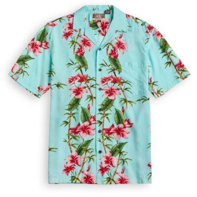 RJC712 Bamboo Garden blue Hawaiian Shirt