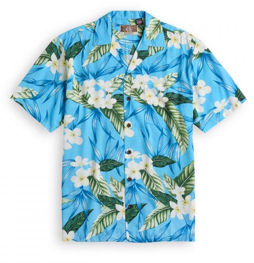 RJC713 Kauwela Breezes blue Hawaiian Shirt
