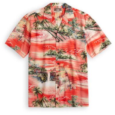 RJC714 Fujiyama Sunset Hawaiian Shirt